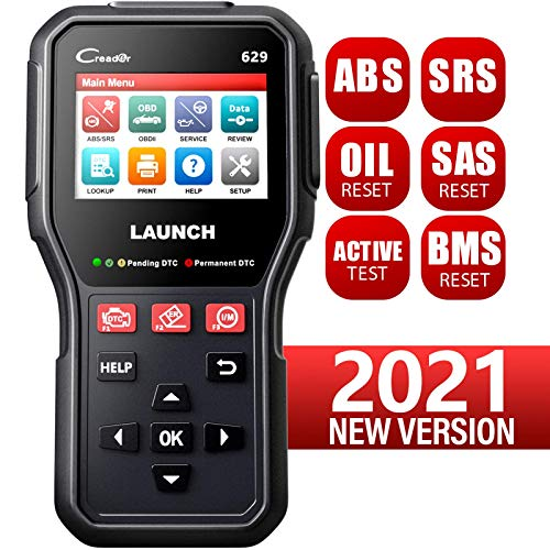 LAUNCH CR629 ABS SRS Scan Tool OBD2 Scanner with Active Test, 3 Reset Functions Oil/SAS/BMS Reset, Car Code Reader Full OBD2 Functions, PC Printing Lifetime Free Update Diagnostic Tool for DIYers