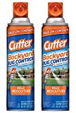 Cutter Backyard Bug Control - Outdoor Fogger - Kills Mosquitoes - 16 OZ (453 g) Per Can - Pack of 2 Cans