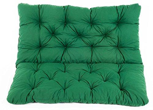 Meerweh Sitzkissen und Rückenkissen Bank Hanko, grün, ca 100 x 98 x 8 cm, Bankauflage, Polsterauflage
