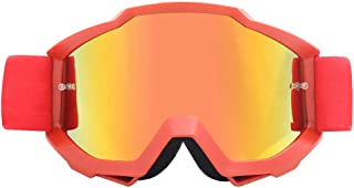 Sunglasses Fashion Accessories Off-Road Motorcycle Goggles Goggles Film Anti-Wind Riding Goggles to Protect Eyes (Color : Red)