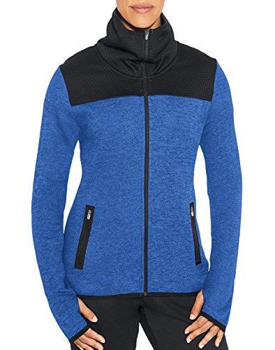 Champion Damen Premium Performance Fleece Full-zip Jacket Fleecejacke, Stahlblauer Heather, X-Small
