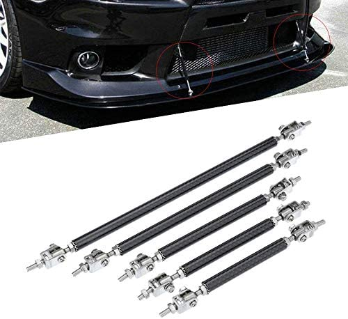 KKmoon 2X Adjustable Front Bumper Lip Splitter Strut Tie Bar Support Rod 75-200mm Carbon … (200cm)