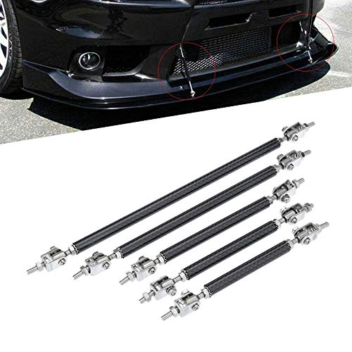 KKmoon 2X Adjustable Front Bumper Lip Splitter Strut Tie Bar Support Rod 75-200mm Carbon … (150cm)