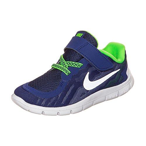 Nike Nike Free 5.0 (TDV) Babyschuhe, Blau Silber Grün Dp RYL Bl Mtllc Slvr Grn Strk - Größe: 21 EU