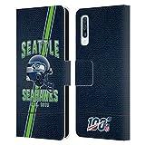 Head Hülle Designs Offiziell Zugelassen NFL Football Streifen 100ste Seattle Seahawks Logo Art Leder Brieftaschen Handyhülle Hülle Huelle kompatibel mit Samsung Galaxy A50/A30s (2019)