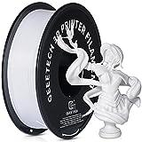 GEEETECH Filamento PLA 1.75mm Nuevo Blanco, filamento de impresora 3D PLA 1kg Carrete