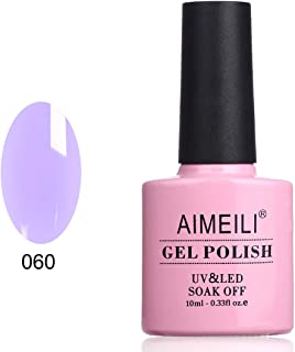 AIMEILI Soak Off UV LED Gel Nail Polish - Neon Lavender (060) 10ml