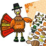 """Package Included: Including 12 cardboard 11""""*8.3"""" backgrounds Harvest and 12 sheets of repositionable, perforated and acid-free stickers. 33 stickers per sheet. 1 simple instruction printed with 5 Turkey pictures for small ones to follow or copy. You..."""