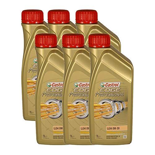 Castrol EDGE Professional Longlife 04 0W30 - Olio per Auto, Lubrificante a Lunga Durata Titanium 0W-30 6 Litri