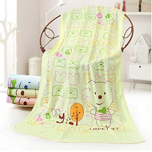 Badhanddoek Cartoon Dots Bear Print Douche Handdoeken Home Badkamer Hotel voor kinderen Volwassenen 70X140cm-D