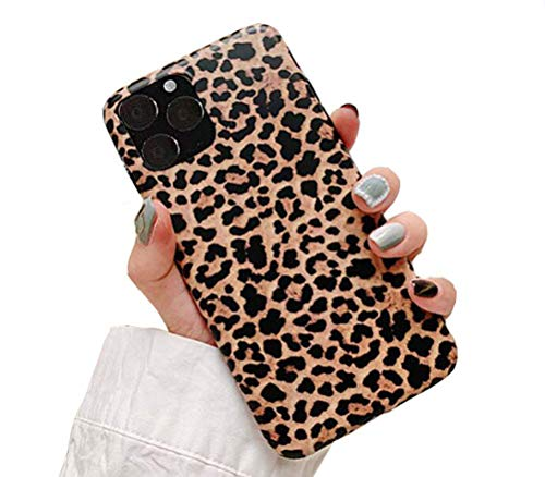 """iPhone 11 Pro Case, Doowear Leopard Cheetah Protective Cover Shell for Girls Women,Matte Slim Fit Anti Scratch Shockproof Soft TPU Bumper Flexible Rubber Gel Silicone Case for iPhone 11 Pro 5.8"""""""