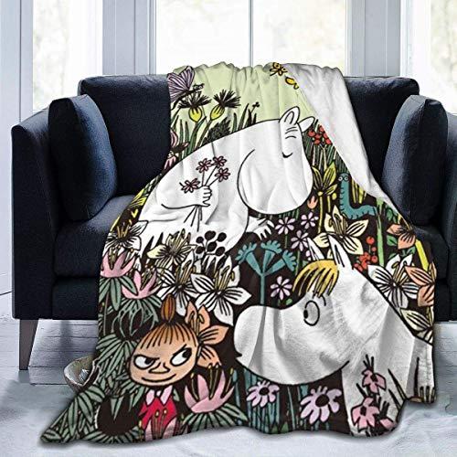 Moomin Flanell Fleece Bettdecke warmes Allwetter weiche und Bequeme Decke auf Mikrofaserbett50 X40