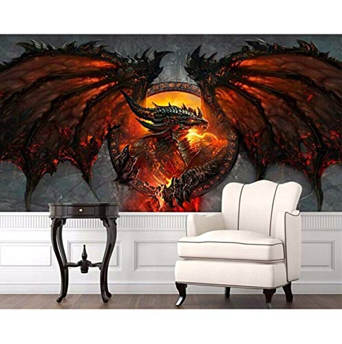 Zyzdsd 3D Drachen Fototapete Große Tapete Einzigartige Interieur Art Deco Schlafzimmer Kinderzimmer 3D Wandbilder Wandpapier-200X140CM