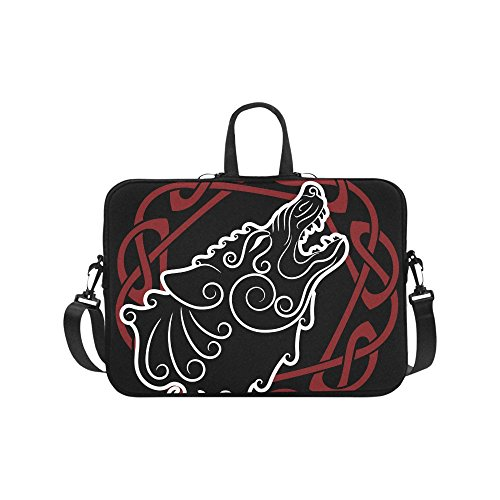 Laptop Sleeves 13.3 Inch Wolf On Celtic Style Laptop Bag