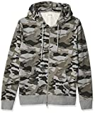 Amazon Brand - Goodthreads Men's Fullzip Fleece Hoodie, Grey Camo, Medium