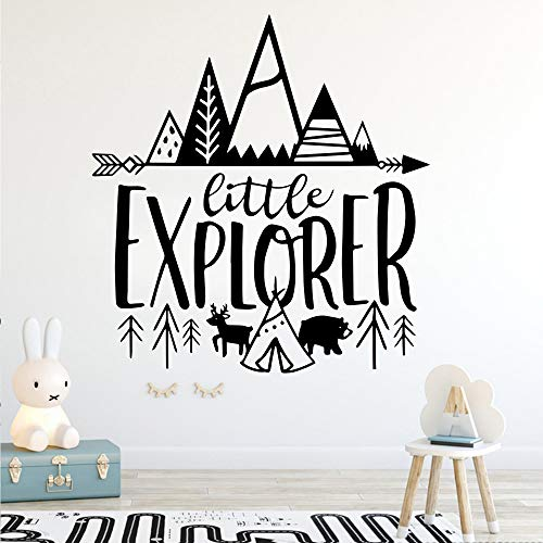 YOKIKI Little Explorer Vinyl Wall Art Decal Wall Art for Boy's Room Wall Art Mural for Room Decoration