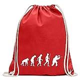 Kiwistar Paintball Spieler Evolution - Mochila de deporte, algodón, con correa, rojo, Talla única