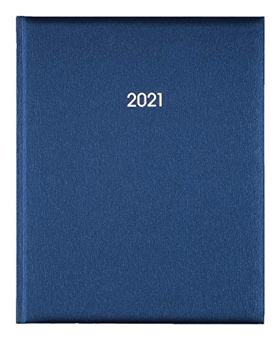 2021 ADINA Buchkalender Manager 21x26cm 2 Seiten für 1 Woche Marke Adina Metallic-Blau