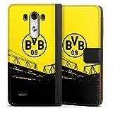 DeinDesign Etui Compatible avec LG G3 Etui Folio Etui magnetique Borussia Dortmund BVB Articles pour...