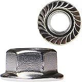 Tuerca hexagonal (50 unidades, M3 a M12, con brida, DIN 6923, acero inoxidable A2)