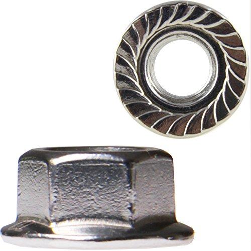50 Stück Sechskantmuttern M8 mit Flansch DIN 6923 Edelstahl A2