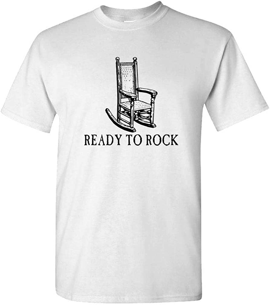 Ready to Rock - Rocking Chair Old People - Mens Cotton T-Shirt