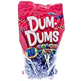 Blue Dum Dums Color Party - Blueberry Flavored - 75 Count Bag - 12.8 ounces - Includes Free How To Build a Candy Buffet Guide