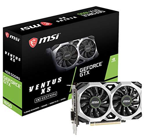 MSI G1650VXS4C Gaming GeForce GTX 1650 128-Bit HDMI DP 4GB GDRR5 HDCP Support DirectX 12 VR Ready OC Graphics Card (GTX 1650 Ventus XS 4G OC)