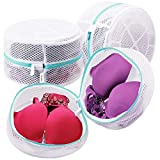 Plusmart Large Mesh Lingerie Bags for Laundry, Bra Washing Bag for Washing Machine/Washer, F to G Cup, 3 Pack White