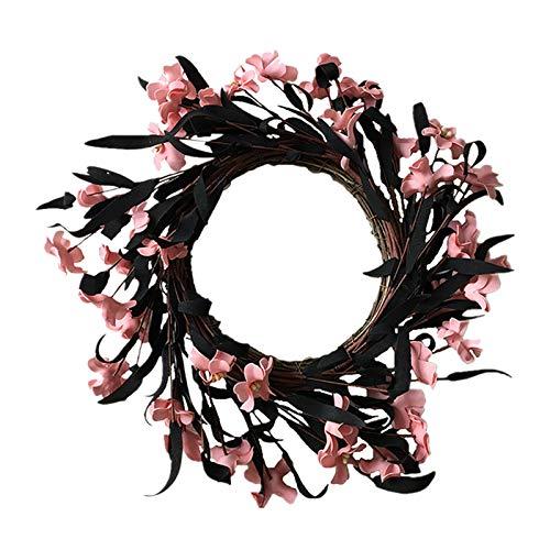 Shubiao Guirnalda de crisantemo salvaje artificial hermosa corona adornos decoración de vacaciones para bodas al aire libre festivales