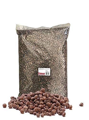 M-import 15 Liter Pflanzton Blähton Körnung 8-16 mm Keramzit Kultursubstrat Hydrokultur Granulat als Pflanzenerden-Ersatz für Topfpflanzen, Blühpflanzen und Kräuter, Pflanz-Granulat
