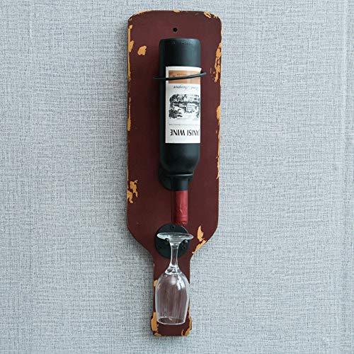 Slivy Vintage Massivholz-Weinregal Wand 37.4