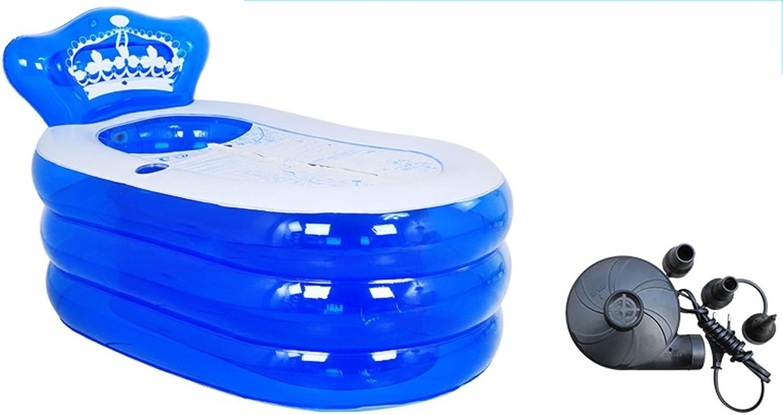 Hiasilei Eindickung Folding aufblasbaren Erwachsene Badewanne blau (gre   160  90  75cm)