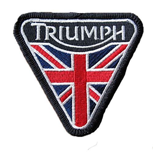 Parche bordado para motocicleta/moto, diseño de bandera triangular de Triumph