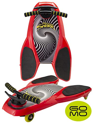 Spinner Shark Drifting Kneeboard – Ride On Scooter Board with Casters for Kids - Boys and Girls