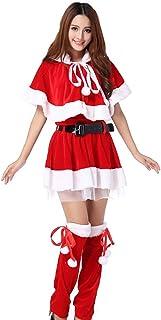 VeroMan クリスマス サンタ コスプレ コスチューム 衣装 大きいサイズ 5点セット (赤い, free)