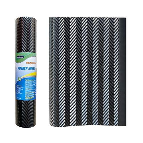 "Unikstep, Rubber Sheet, 21.5""x14.5"", Thick 0.08"", for Shoe Sole Heel Repair, Furniture Pad, Vibration Reduce, DIY Gasket Seal Pad, Floor Anti Slip Cushion (Black Color ""V"" Pattern)"