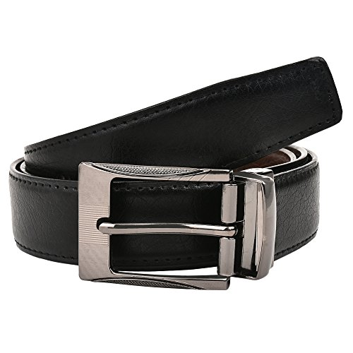 Creature Reversible Pu-Leather Formal Belt For Men(Color-Black/Brown||BL-01|| 46 inches lenght|| Waist upto -40 inches)