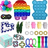 Push Pop Bubble Sensory Fidget Toys Pack for Kids Adult, Stress Relief Tools, Silicone Bubble Sensory Popping it Toy (27Pcs)