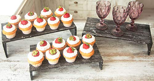wooden tiered cupcake stand - 2