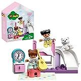 LEGO 10926 Duplo Town Dormitorio, Juego Educativo para Niños y Niñas +2 Años con Caja en Forma de Casa de Muñecas y 2 Figuras