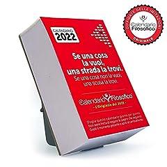 Idea Regalo - Il Calendario Filosofico 2022 – L'originale – con supporto cartone formato A7