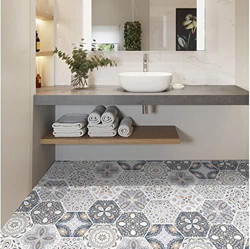 ZCQFFF Hexagon tegel sticker badkamer keuken badkamer kamer muur sticker anti-slip vloer sticker