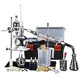 44Pcs 500ml Distillatore di vetro da laboratorio Set di distillazione di olio essenziale Kit di vetreria da laboratorio Attrezzatura per esperimenti chimici Attrezzatura per distillazione sotto vuoto