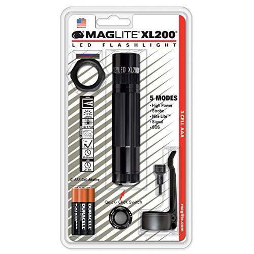 Maglite DEL ML300L-S3016 3d Génération 3-Cell D Flashlight Noir