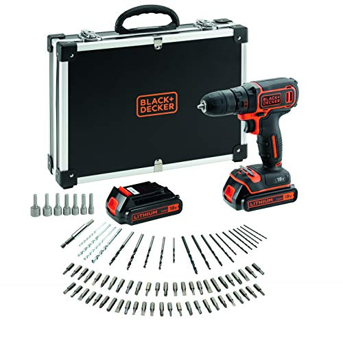 BLACK+DECKER BDCDC18BAFC-QW Perceuse visseuse sans fil - Chargeur inclus - 80...