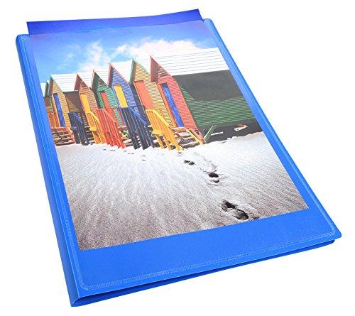 Exacompta 5732E - Carpeta de 30 fundas, A4, color azul