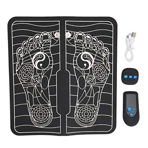 Elektrisches Fuß Massage Kissen mit Fernbedienung, Akupunkt Massage Fuß Massage Matte Schmerzminderungs Massagegerät mit 6 Modi und 9 Gängen Intensitätse Instellung