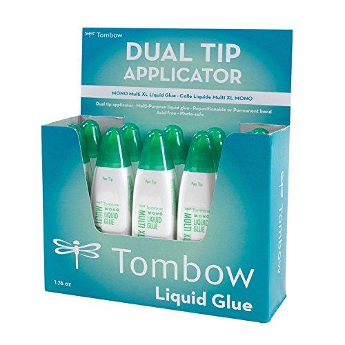 Tombow 52195 MONO Multi XL Liquid Glue, 1.76 Ounce Each, 10-Pack. Value Size, Multi-Purpose Glue with Dual Tip Dispenser.