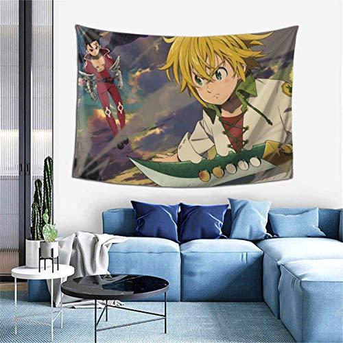 Hdadwy Meliodas Dragon Wrath (2) Tapiz para Colgar en la Pared, tapices de Anime, Tapiz de Pared, decoración del hogar, para Dormitorio, Sala de Estar, Dormitorio (40 x 60 Pulgadas)